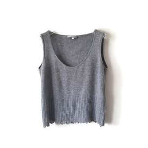 MaxMara top sleeveles  gray cashmere sz Large